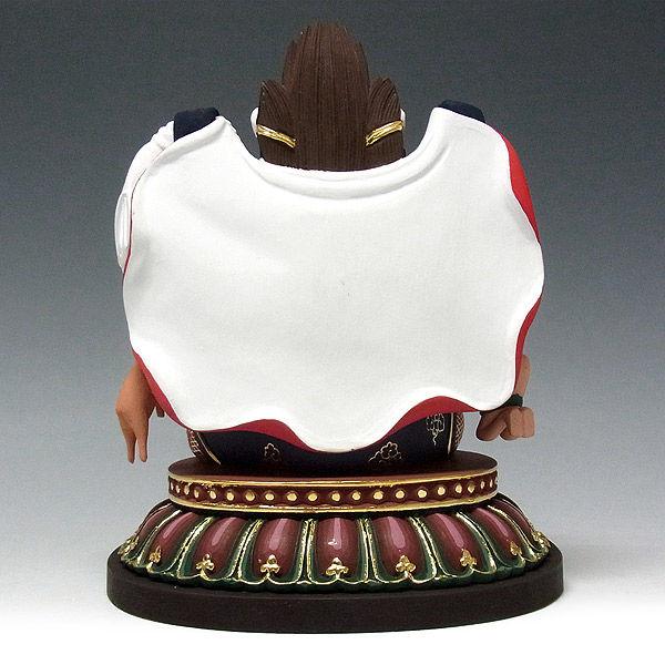 桧/檜(ヒノキ) 彩色 三面大黒天(マハーカーラー) 高さ20cm (販売・木彫り)