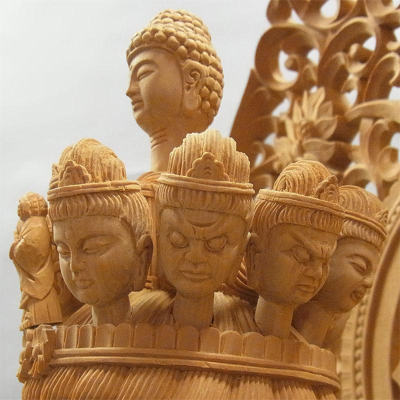 榧(カヤ) 特大最上彫り千手観音菩薩立像 高さ:110cm (販売・木彫り)
