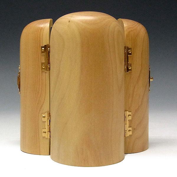 柘植/黄楊(ツゲ) 厨子 十三仏 高さ:10.5cm (販売・木彫り)