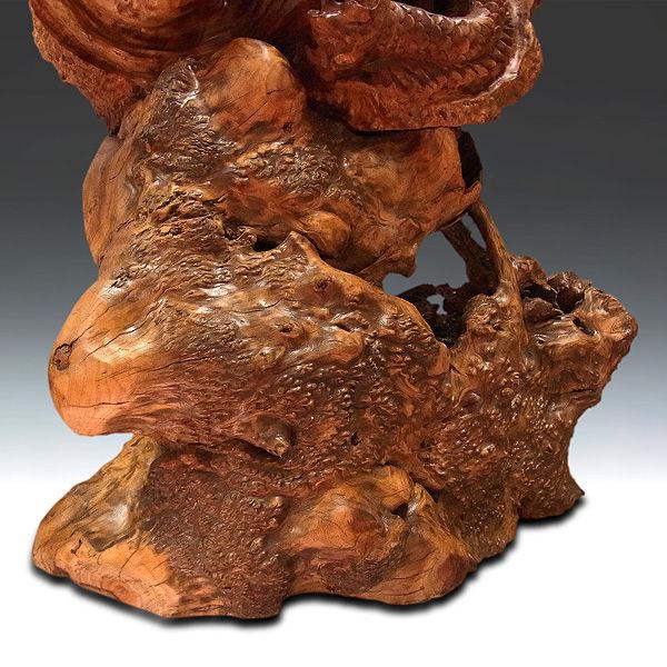 杉/椙(スギ) 木彫り単龍 高さ:105cm (販売・木彫り)
