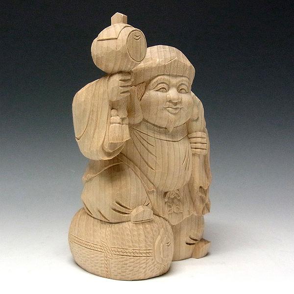 楠/樟(クス) 白木 薬師如来 高さ26cm (販売・木彫り)
