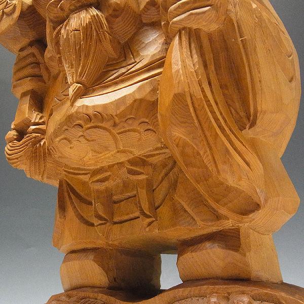 木曽桧/檜(きそひのき) 大黒天 高さ:35cm 【国内仏師(日本仏師)作品】 (販売・木彫り)