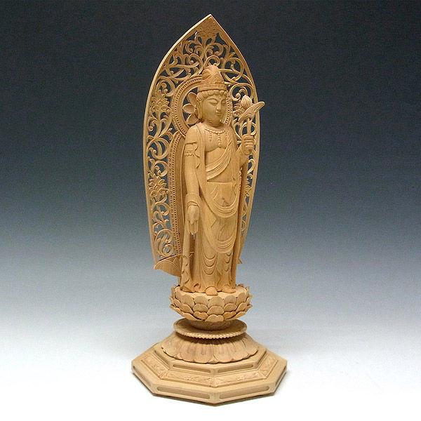 柘植/黄楊(ツゲ) 聖観音菩薩 高さ36cm (販売・木彫り)