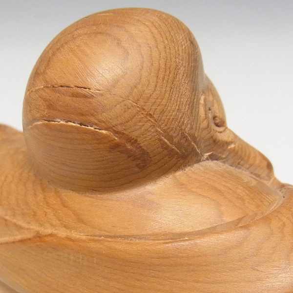 【特別プライス】紅豆杉/赤豆杉(ベニマメスギ) 達磨布袋 高さ:8cm (販売・木彫り)
