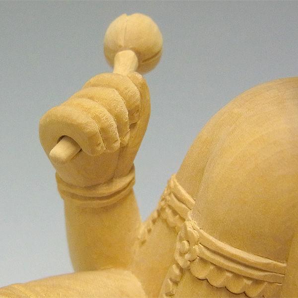 柘植/黄楊(ツゲ) 愛染明王 高さ:27cm (販売)