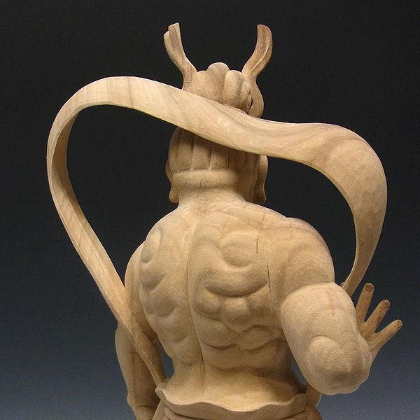 楠/樟(クス) 白木 仁王 高さ:66cm (販売・木彫り)