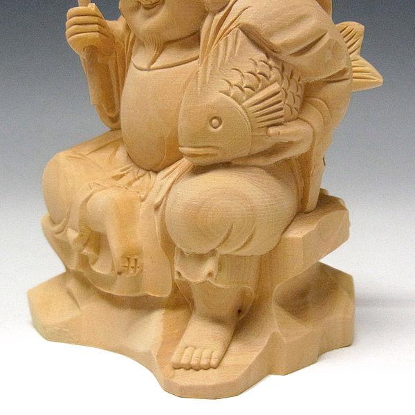 柘植(つげ) 如意輪観音 高さ54cm (販売・木彫り)