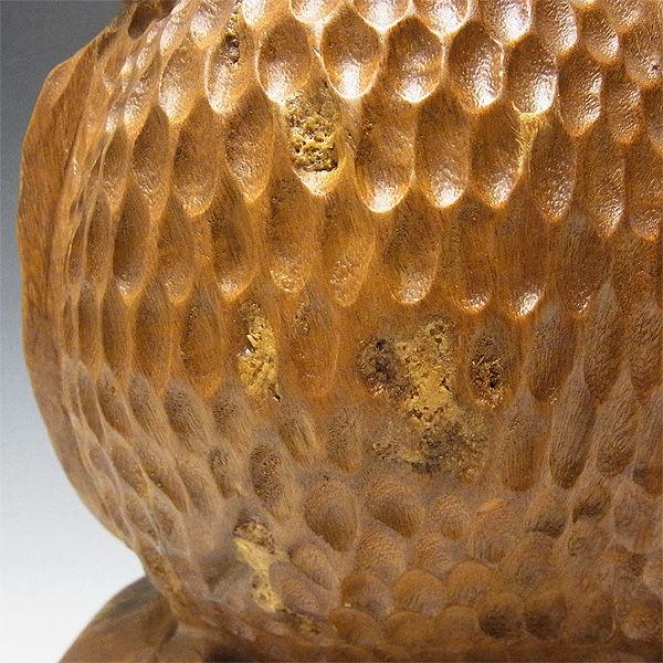 【特別プライス】楠/樟(クス) 木彫りのふくろう 高さ:25cm
