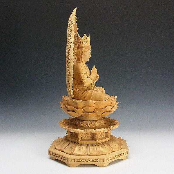 榧(カヤ) 白木 大日如来 高さ:49cm (販売・木彫り)