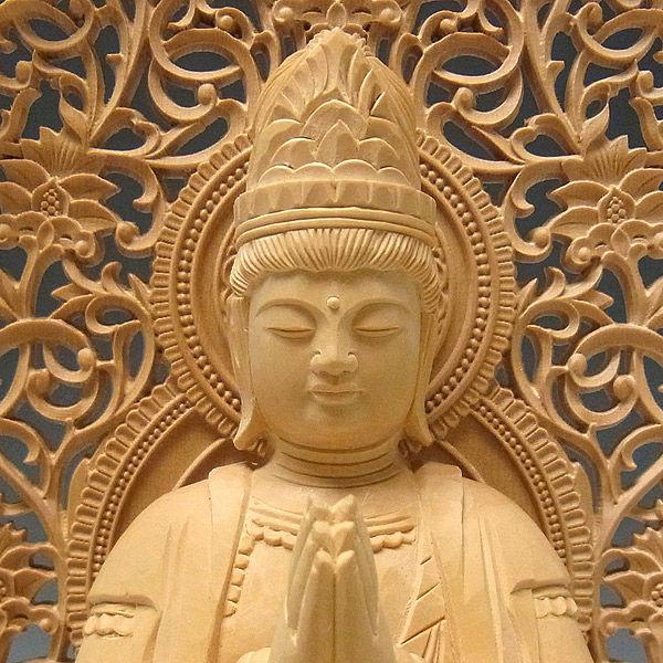 柘植/黄楊(ツゲ) 普賢菩薩・象坐 高さ26cm (販売・木彫り)