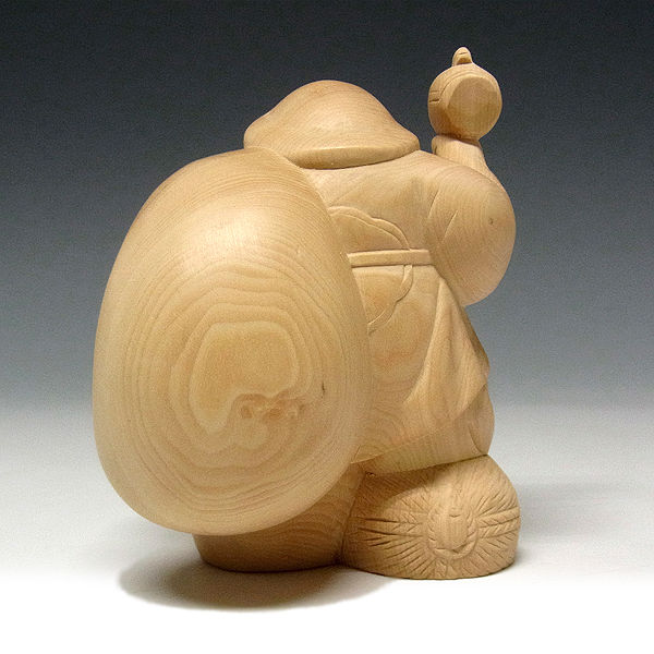柘植/黄楊(ツゲ) 大黒天 高さ:10cm (販売・木彫り)