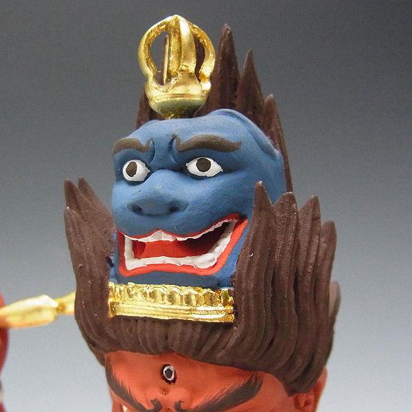 楠/樟(クス) 彩色愛染明王 高さ:34cm (販売・木彫り)