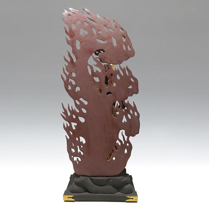 楠/樟(クス) 古色 不動明王 立像 高さ:103cm (販売・木彫り)