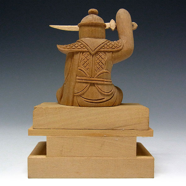 桧/檜(ヒノキ) 妙見菩薩 高さ:11cm 手のひらサイズ (販売・木彫り)