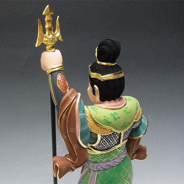 楠/樟(クス) 彩色 四天王(持国天・増長天・広目天・多聞天) 高さ:60cm