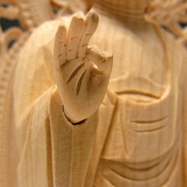 桧/檜(ヒノキ) 阿弥陀如来 立像 高さ26cm (販売・木彫り)