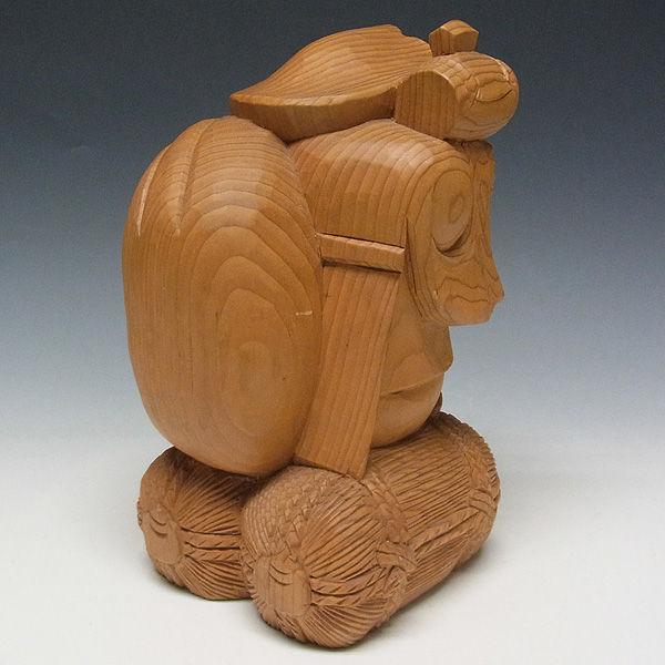 木曽桧/檜(きそひのき) 大黒天 高さ:25cm 【国内仏師(日本仏師)作品】 (販売・木彫り)