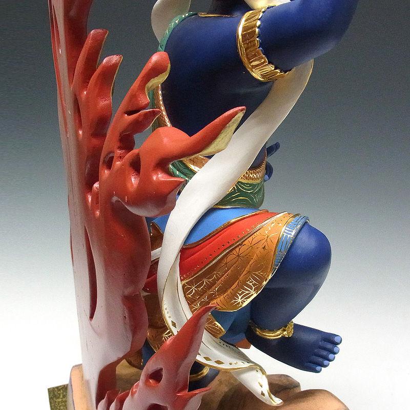 楠/樟(クス) 彩色 蔵王権現 高さ:77cm (販売・木彫り)
