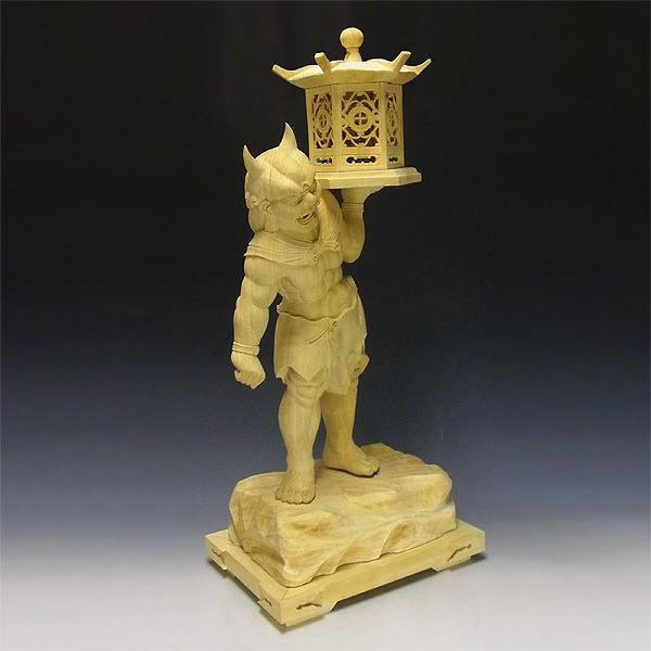 【特別プライス】楠/樟(クス)白木 天燈鬼(てんとうき) 高さ:71cm