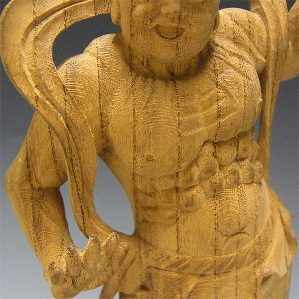 欅(ケヤキ) 仁王 高さ:25cm (販売・木彫り)
