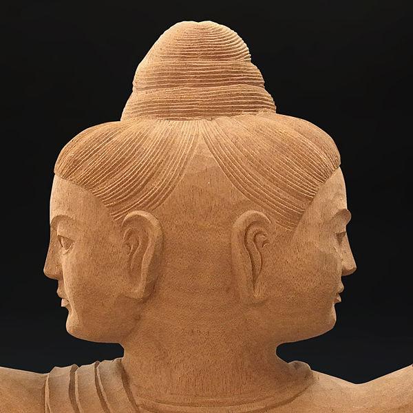 木曽桧/檜(きそひのき) 阿修羅 高さ:105cm 【国内仏師作品】 (販売・木彫り)