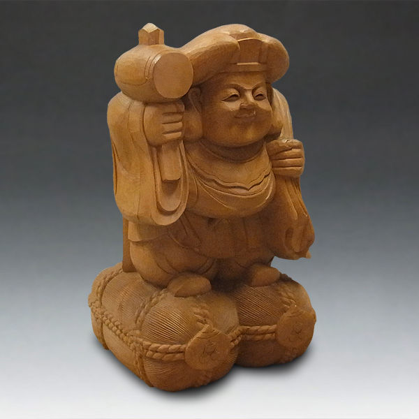 木曽桧/檜(きそひのき) 大黒天 高さ:62cm 【国内仏師(日本仏師)作品】 (販売・木彫り)