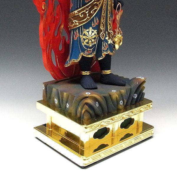 桧/檜(ヒノキ) 彩色 不動明王 (立像) 高さ74cm (販売・木彫り)