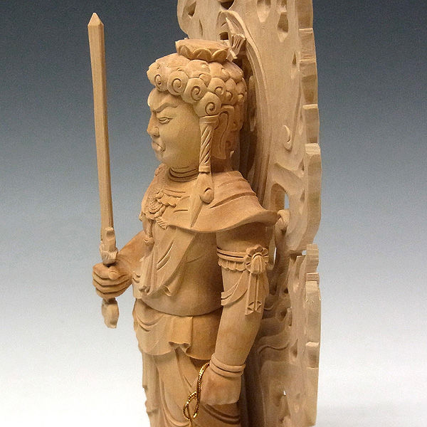 柘植/黄楊(ツゲ) 不動明王 高さ30cm (販売・木彫り)