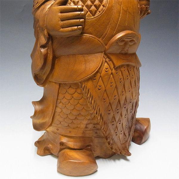 【特別プライス】楠/樟(クス) 毘沙門天 高さ:45cm