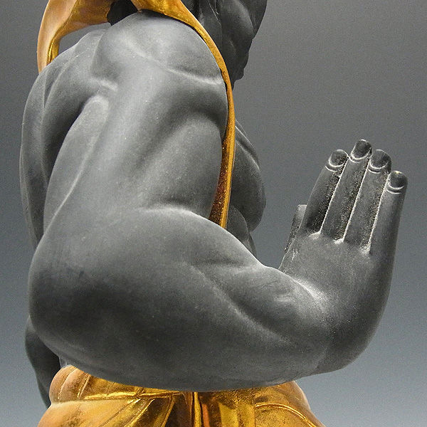 楠/樟(クス) 古色仁王像(金剛力士) 高さ:57cm (販売・木彫り)