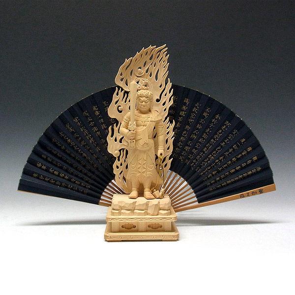 柘植/黄楊(ツゲ) 不動明王 高さ28cm (販売・木彫り)