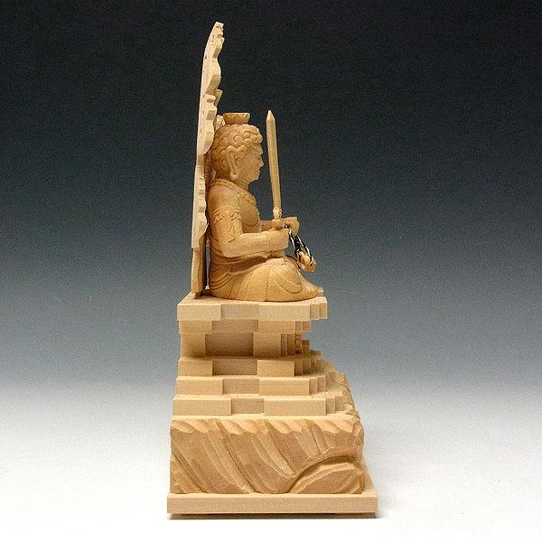 桧/檜(ヒノキ) 不動明王 坐像 高さ20cm (販売・木彫り)