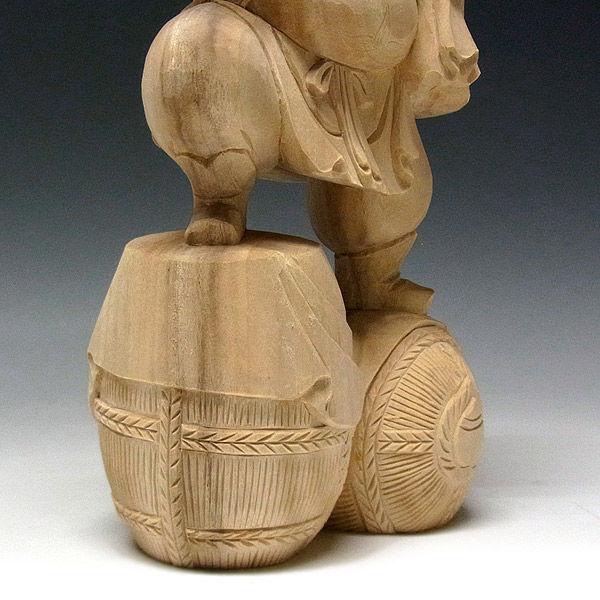 楠/樟(クス) 恵比寿大黒 高さ33cm (販売・木彫り)