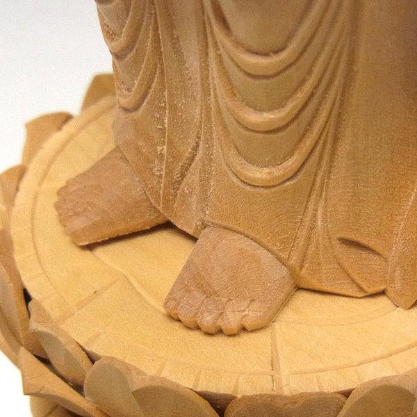 柘植/黄楊(ツゲ) 聖観音菩薩 高さ:20cm (販売・木彫り)
