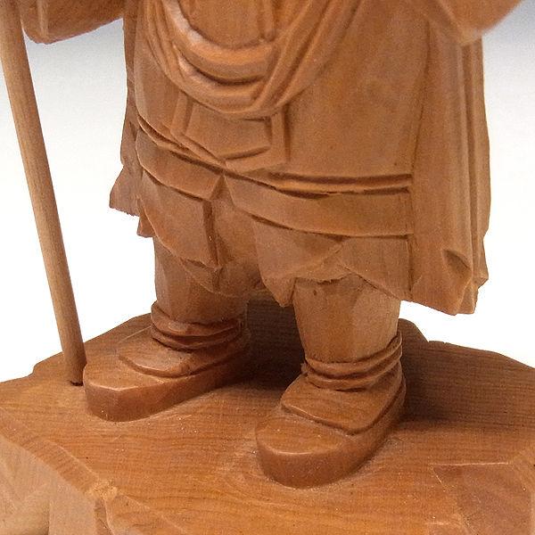 木曽桧/檜(きそひのき) 毘沙門天 高さ:16cm 【国内仏師作品・一木造り】 (販売・木彫り)