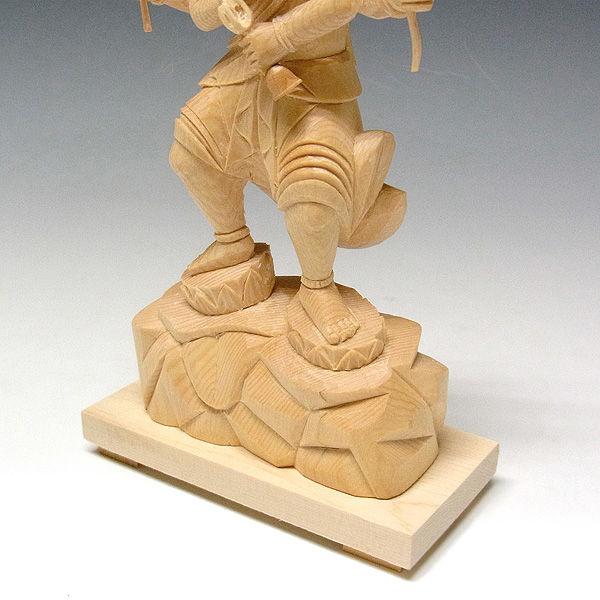 桧/檜(ヒノキ) 五大明王セット 高さ20cm (販売・木彫り)