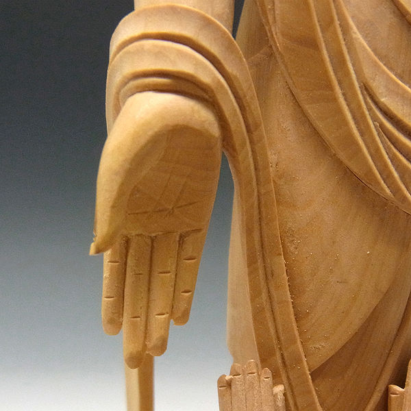 柘植/黄楊(ツゲ) 子安観音(水子観音) 高さ:30cm (販売・木彫り)