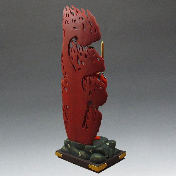 楠/樟(クス) 彩色不動明王 高さ:127cm (販売)