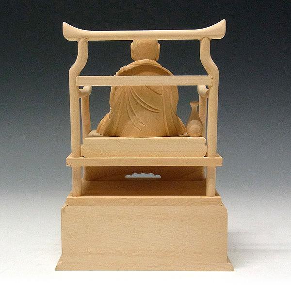 桧/檜(ヒノキ) 弘法大師・空海 高さ:16cm (販売・木彫り)