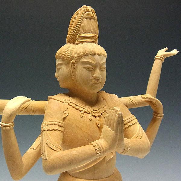 桧/檜(ヒノキ) 阿修羅 高さ:32cm (販売・木彫り)