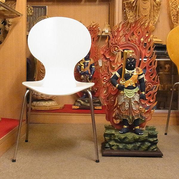 楠/樟(クス) 彩色 不動明王 立像 高さ87cm (販売・木彫り)