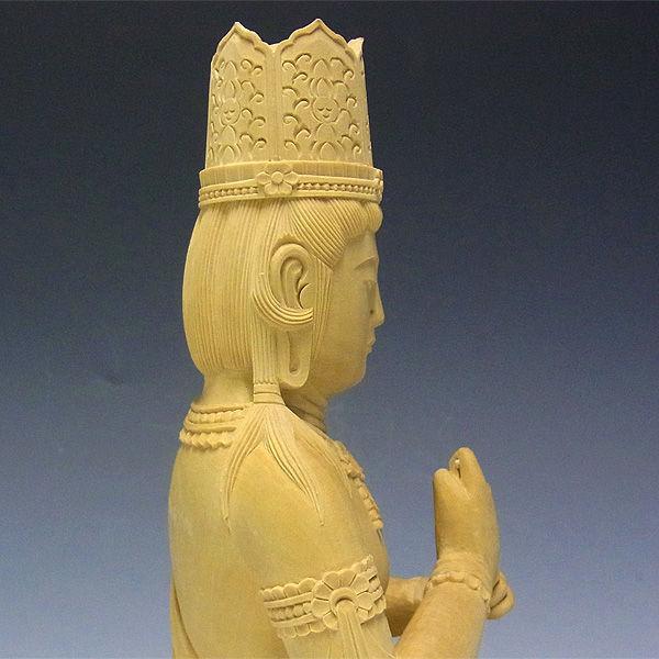 【特別プライス】柘植/黄楊(ツゲ) 大日如来 (飛天光背) 高さ:51cm (販売・木彫り)