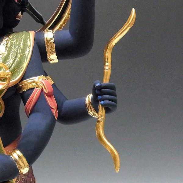 楠/樟(クス) 彩色 五大明王セット 高さ55cm (販売・木彫り)