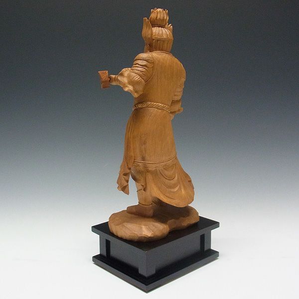 木曽桧/檜(きそひのき) 十二神将 卯神 摩虎羅大将 まこら 全体高:37.5cm 【国内仏師(日本仏師)作品】 (販売・木彫り)