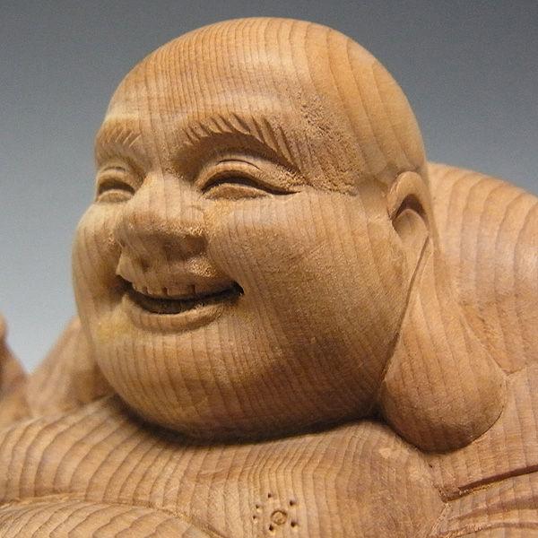 紅豆杉/赤豆杉(ベニマメスギ) 達磨布袋 高さ:8.5cm (販売・木彫り)