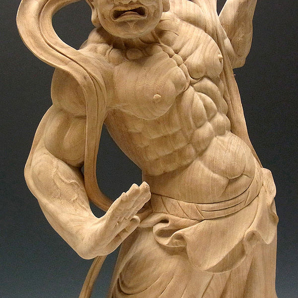 楠/樟(クス) 仁王 高さ:57cm (販売・木彫り)