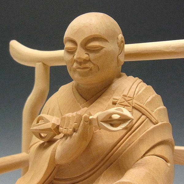 柘植/黄楊(ツゲ) 弘法大師・空海 高さ:20cm (販売・木彫り)