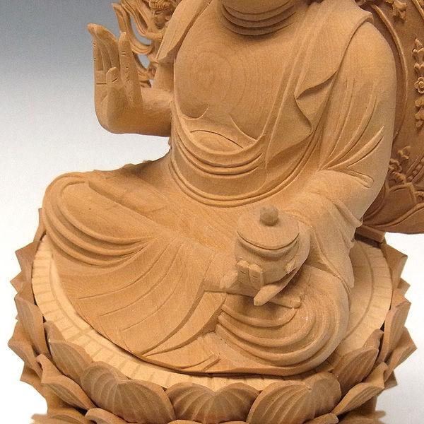 柘植/黄楊(ツゲ)  薬師如来 高さ:27cm (販売・木彫り)