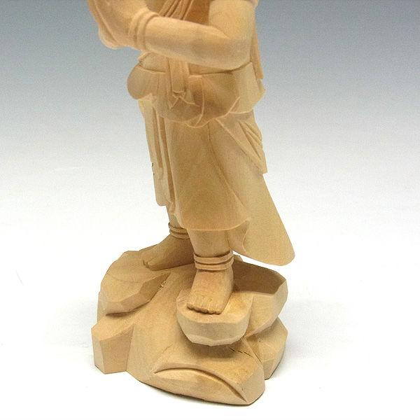 柘植/黄楊(ツゲ) 不動明王・二童子 矜羯羅(こんがら)・制吐迦(せいたか)セット 高さ:21cm (販売・木彫り)