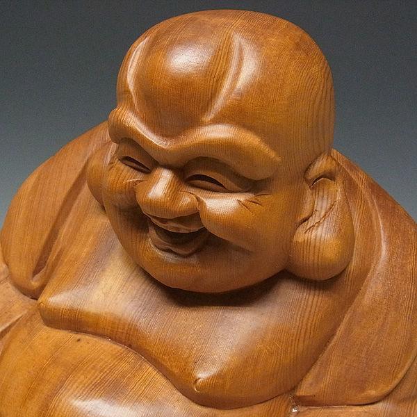 木曽桧/檜(きそひのき) 布袋 高さ:45cm 【国内仏師(日本仏師)作品】 (販売・木彫り)